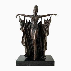 Art Deco Bronze Ballerina Skulptur von Chiparus
