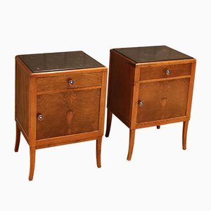 French Art Deco Bedside Cabinets, Set of 2