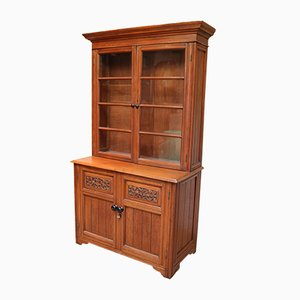 Solid Teak Bookcase Cabinet