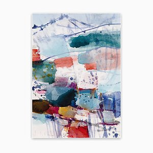 Mountain and Valley VII, Abstract Expressionist Painting, 2021