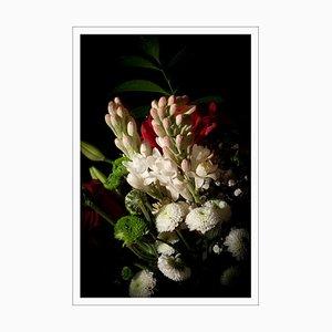 Flowers with Caravaggio Light, Still Life Giclée Photo, 2021
