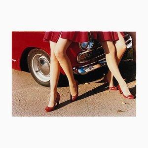 Glamour Cabs, Goodwood Revival, fotografía de moda vintage en color, 2009