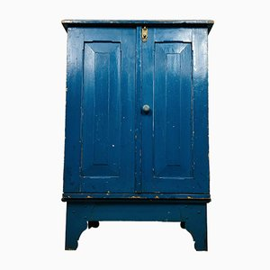 Vintage Pantry Cabinet in Blue