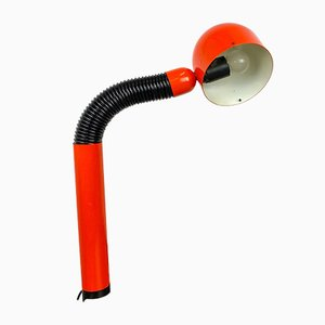 Schreibtischlampe mit Klemme in Orange, 1960er
