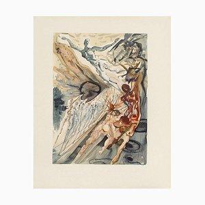 Salvador Dali, Divine Comedy: Purgatory 26, Meeting of Two Herds, 1960s
