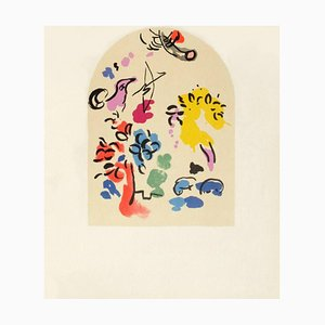 Jerusalem Fenster: Joseph, Skizze von Marc Chagall