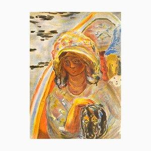 Girl in a Boat by Pierre Bonnard