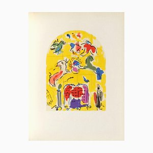 Jerusalem Windows: Levi, Sketch by Marc Chagall