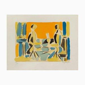 Trois personnages à table by Jacques LaGrange