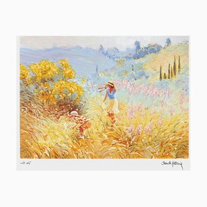 Picking Flowers II von Claude Fossoux