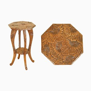 Hand-Carved Side Table from Liberty of London, 1900s