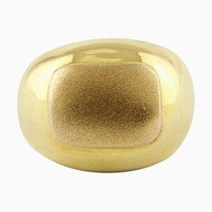 Kuppelring aus 18 Karat Gelbgold
