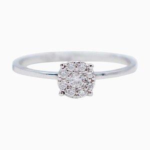 Diamond & 18 Karat White Gold Magic Ring