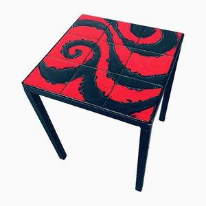 Ceramic Top Side Table, Belgium, 1960s