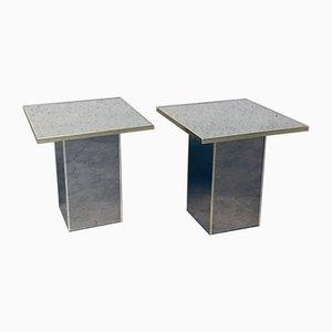 Tavolini specchiati di Deknudt, Belgio, anni '70, set di 2