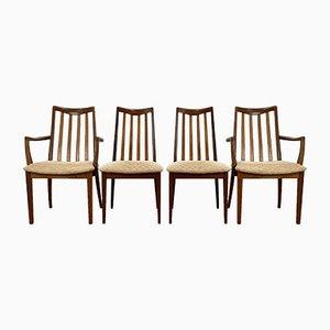 Mid-Century Esszimmerstühle von G-Plan, 4er Set
