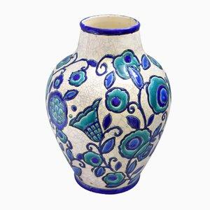 Große Vase von Boch Frères für La Maîtrise
