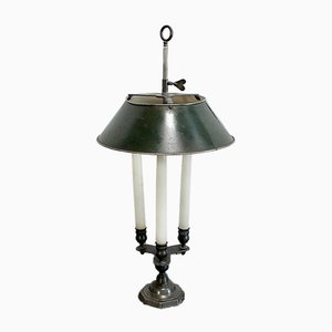Bouillotte Style Lamp in Bronze, Early 20th Century