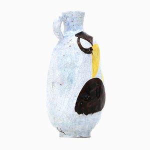 Glasierte Il Secco Keramikvase von Bruno Paoli, 1950er