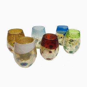 Set da tavola vintage in vetro di Murano di Maryana Iskra, Italia, set di 6