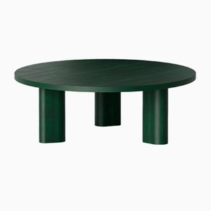 Galta Round Tables in Green Oak from Kann Design, Set of 4