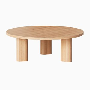 Galta Round Tables in Natural Oak from Kann Design, Set of 4