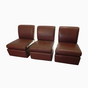 Discotheque Style Lounge Chairs, 1970s, Set of 3