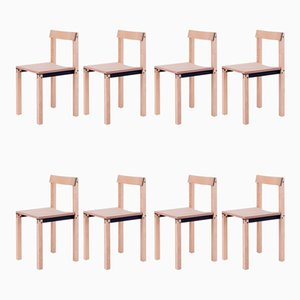 Tal Natural Ash Chairs from Kann Design, Set of 10