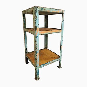 Industrial Shelving Unit Coffee Machine Table in Steel with Wood