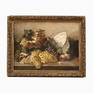 Antique French Still Life Painting, 19th Century