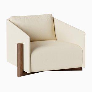 Cremefarbene Timber Armlehnstühle von Kann Design
