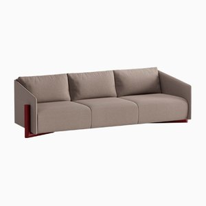 Timber 4-Seater Sofas in Taupe Grey from Kann Design