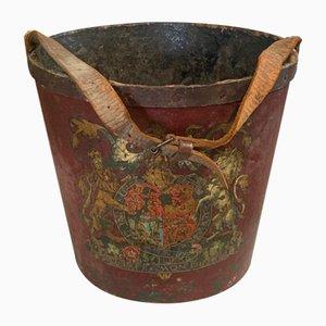 19th Century Papier Mache Fire Bucket