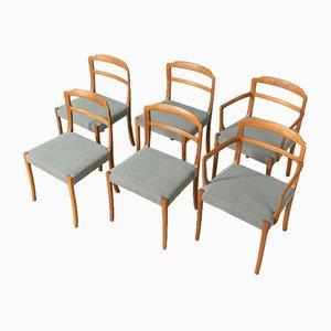 Esszimmerstühle von Ole Wanscher für AJ Iversen, 1960er, 6er Set