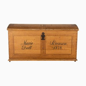 Swedish Domed Pine Marriage Chest