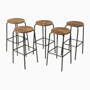 Barstools from Sika Møbler, 1960s, Set of 5