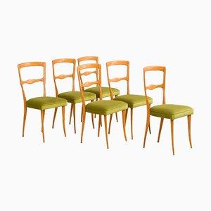 Italienische Mid-Century Esszimmerstühle von Ico & Luisa Parisi, 6er Set