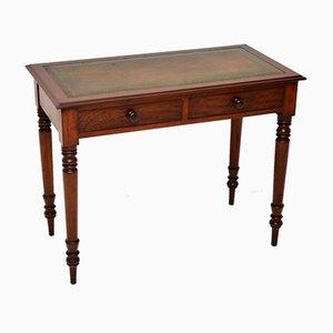 Antiker viktorianischer Schreibtisch mit Lederplatte