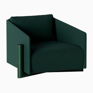 Butaca Timber en verde de Kann Design