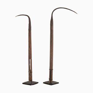 English 18th Century Mounted Sickles, Set of 2