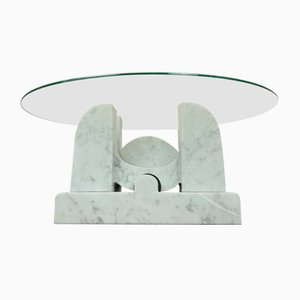 Carrara Marble Sculpture Table, 1970s
