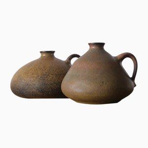 Keramikvasen von Gisela & Walter Baumfalk für Töpferei Baumfalk, 2er Set