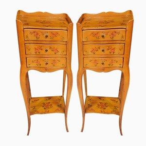 Narrow Louis XV Style Nightstands, Set of 2