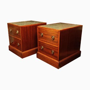 Art Deco Mahogany Cabinets, 1930s, Set of 2