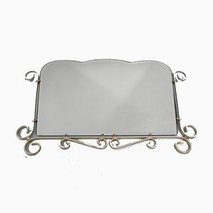 Vintage Facettierter Vintage Spiegel mit Aluminiumrahmen