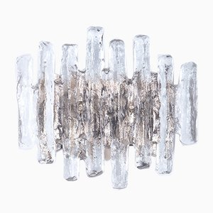 Eisglas Wandlampe von JT Kalmar für Kalmar Franken KG, 1960er