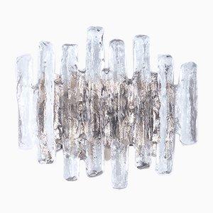 Lámpara de pared de cristal de hielo de JT Kalmar para Kalmar Franken KG, años 60
