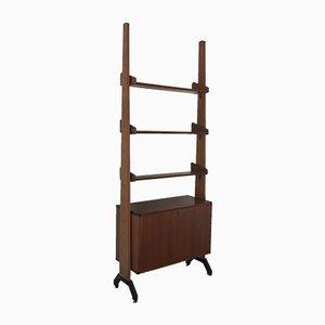Italienisches Bücherregal aus Holz & Metall, 1960er