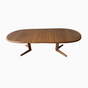 Mesa de comedor extensible danesa vintage de Erik Buch