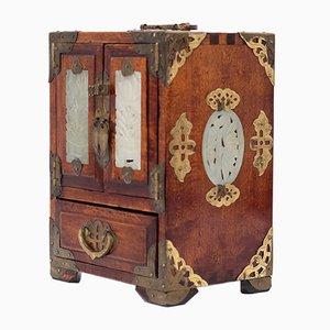 Chinese Walnut Jewelry Box, 1960s